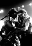 Jenny & Johnny (musikband) perfoms på Razzmatazzetappen Royaltyfri Fotografi