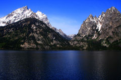 Jenny Lake 4. View of Tetons across Jenny Lake, Grand Teton National Park, Wyoming Royalty Free Stock Photo