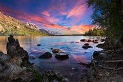 Jenny Lake Arkivbild