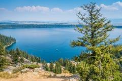 Jenny Lake dans Tetons grand images libres de droits