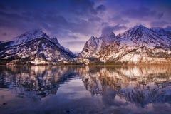 Jenny Lake dawn, Grand Teton National Park royalty free stock photos