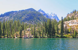 The Jenny Lake in Grand Teton Stock Image