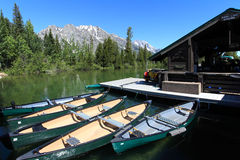 Jenny lake,Grand Teton National Park stock photo