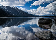 Jenny Lake in Grand Teton National Park Stock Image