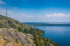 Jenny Lake in Grand Tetons stock photography