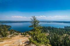 Jenny Lake in Grand Tetons royalty free stock photos