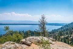 Jenny Lake in Grand Tetons stock images