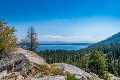 Jenny Lake in Grand Tetons royalty free stock photography