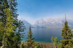 Jenny Lake in Grand Tetons royalty free stock photography