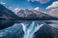 Jenny Lake in großartigem Tetons lizenzfreie stockbilder