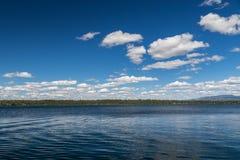 Jenny Lake på den storslagna Teton nationalparken, Wyoming, USA Royaltyfria Bilder