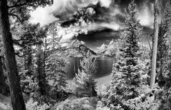Jenny Lake Panorama Stock Foto