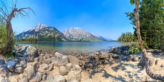 Jenny Lake Panorama, Grand Teton National Park Royalty Free Stock Image