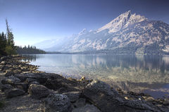 Jenny lake. Reflection of Grand Tetons in Jenny Lake Royalty Free Stock Photos