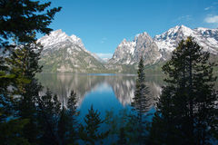 Jenny Lake with reflections Stock Photography