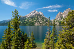 Jenny Lake and Tetons Royalty Free Stock Images
