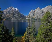 Jenny Lake, Tetons royalty free stock photo