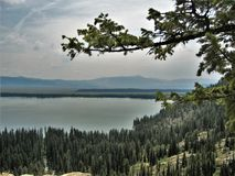 Jenny Lake. A view of Jenny Lake in Grand Tetons National Park from Inspiration Point Stock Photography