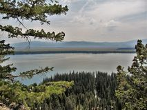 Jenny Lake. A view of Jenny Lake in Grand Tetons National Park from Inspiration Point Royalty Free Stock Photography