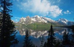 Jenny Lake in Wyoming stockbilder