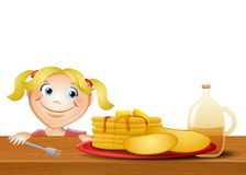 Jenny Loves Pancakes Royalty Free Stock Photos