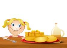 Jenny Loves Pancakes Royalty Free Stock Photos