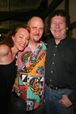 Jenny McShane, J. Nathan Brayley en Randy Scruggs bij de verjaardagspartij voor J. Nathan Brayley, Amagis, Hollywood, CA 051808/Im Stock Foto's