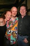 Jenny McShane, J. Nathan Brayley et Randy Scruggs à la fête d'anniversaire pour J. Nathan Brayley, Amagis, Hollywood, CA 05-18-08/ Photos stock