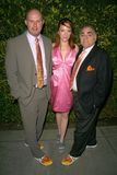 Jenny McShane with Mark Allen and Stephen Gold of Glagla Shoes at Global Green USA's 6th Annual Pre-Oscar Party. Avalon Hollywood, Royalty Free Stock Photos