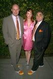 Jenny McShane met Teken Allen en Stephen Gold van Schoenen Glagla bij de 6de Jaarlijkse Partij pre-Oscar van de Globale Groene V.S Royalty-vrije Stock Foto's