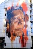 Jenny Munro Mural på byggnad i Sydney Australia Arkivbilder
