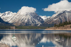 Jenny See am großartigen Teton Nationalpark lizenzfreie stockbilder
