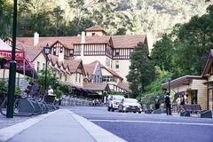 Jenolan洞旅馆是一家大,遗产列出的旅馆,建造 库存照片