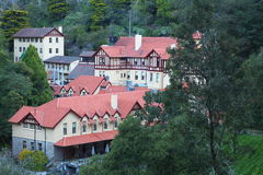 Jenolan Caves solitary village. The historic village of Jenolan Caves, secluded in the Blue Mountains. European in appearance in the Australian landscape Stock Photography