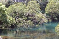 Jenonlan cava o lago azul Foto de Stock Royalty Free