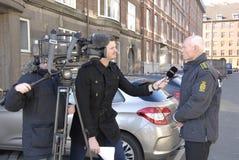 JENS HENRIK HOJBJERG_POLICE COMMISSIONER. COPENHAGEN/DENMARK. 26 February 2015 - Jens Henrik Hojbjerg (jens henrik H�jbjerg) police commissioner taking to stock photography