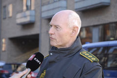 JENS HENRIK HOJBJERG_POLICE COMMISSIONER. COPENHAGEN/DENMARK. 26 February 2015 - Jens Henrik Hojbjerg (jens henrik H�jbjerg) police commissioner taking to stock images