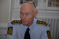 JENS HENRIK HOJBJERG_POLICE DIREKTÖR fotografering för bildbyråer
