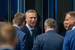 Jens Stoltenber, le Général secrétaire de l'OTAN photos stock