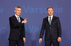 Jens Stoltenberg and Andrzej Duda Stock Photography