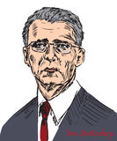 Jens Stoltenberg, Norwegian politician, and the 13th Secretary General of the North Atlantic Treaty Organization. Drawn by hand 2d illustration in pop art style Stock Photography