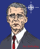 Jens Stoltenberg, Norwegian politician, and the 13th Secretary General of the North Atlantic Treaty Organization royalty free illustration