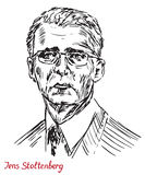 Jens Stoltenberg, Norwegian politician, and the 13th Secretary General of the North Atlantic Treaty Organization NATO. Drawn by hand 2d illustration, simple Royalty Free Stock Images