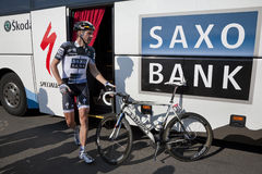 Jens Voigt Team Saxobank Royalty-vrije Stock Foto