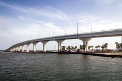 Jensen Beach Bridge Florida stockbilder