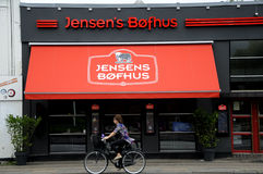 JENSEN'S BOFHUS. 07 September 2016-Jensen's Bofhus danish steak house chain in Copenhagen / Denmark / Photo stock photo