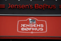 JENSEN'S BOFHUS. 07 September 2016-Jensen's Bofhus danish steak house chain in Copenhagen / Denmark / Photo royalty free stock images