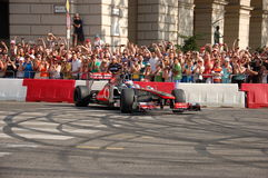 Jenson Button à Budapest Image stock