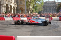 Jenson Button à Budapest Photographie stock libre de droits