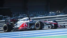Jenson Button à Jerez 2012 Image libre de droits